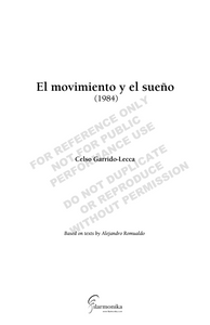 El movimiento y el sueño, for chorus, two narrators, and orchestra