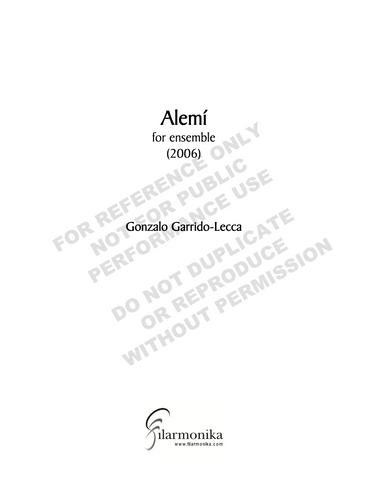 Alemí, for ensemble