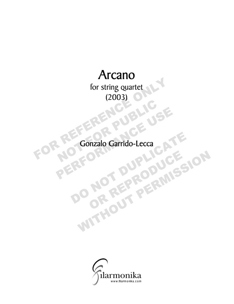 Arcano, for string quartet