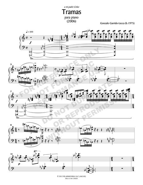 Tramas, for solo piano
