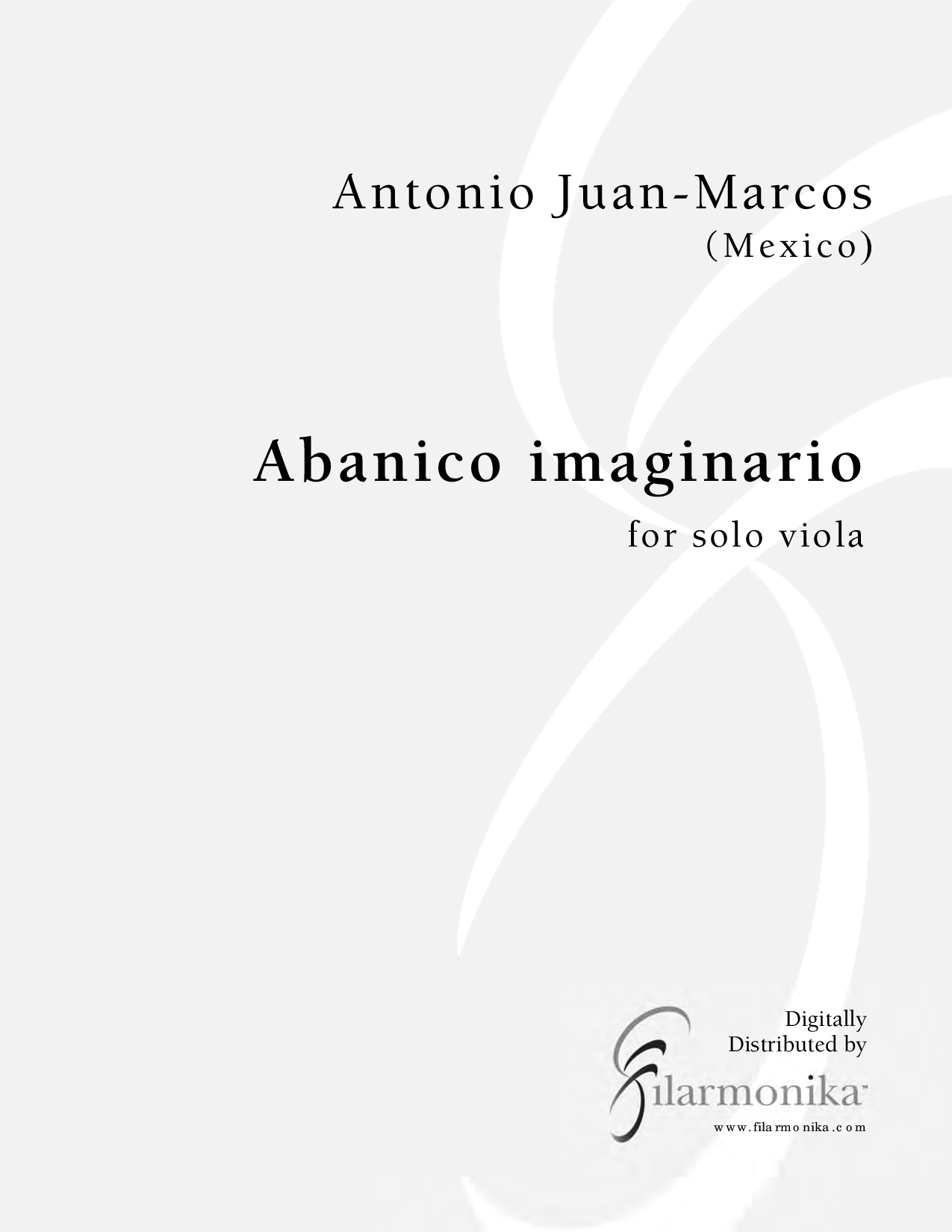 Abanico imaginario, for viola