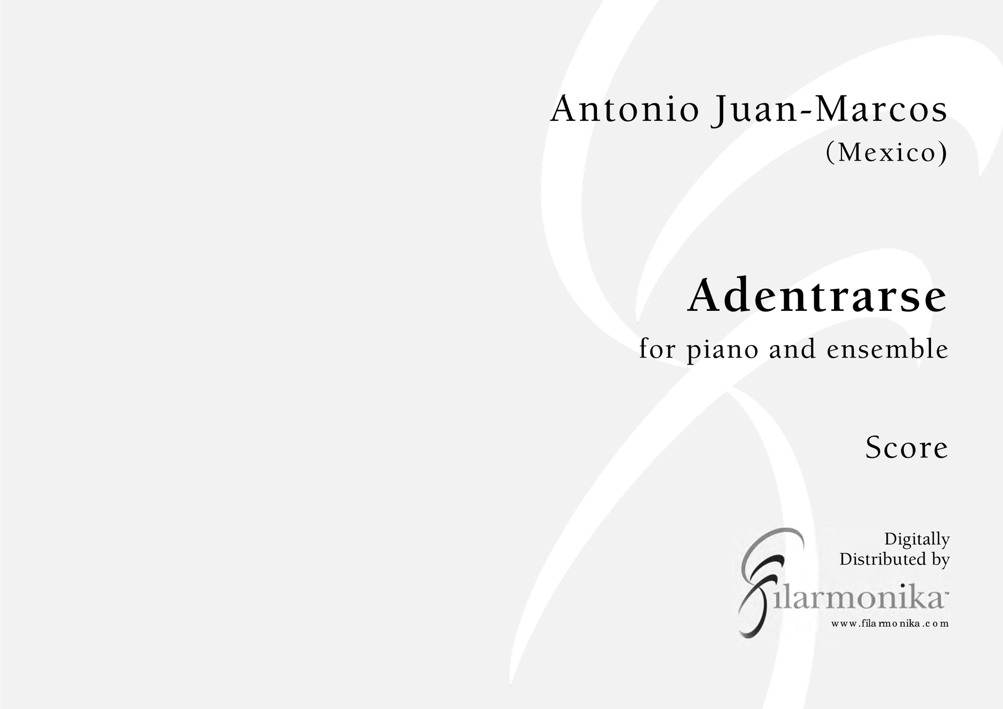 Adentrarse, for piano and esemble