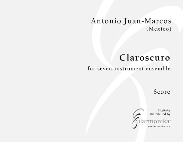 Claroscuro, for 7-instrument ensemble