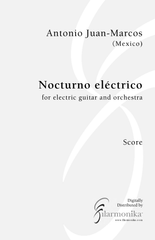 Nocturno eléctrico, for electric guitar and orchestra