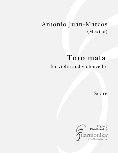 Toro mata, for violin and cello