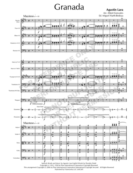 Granada, for orchestra (arr. Gonzales)