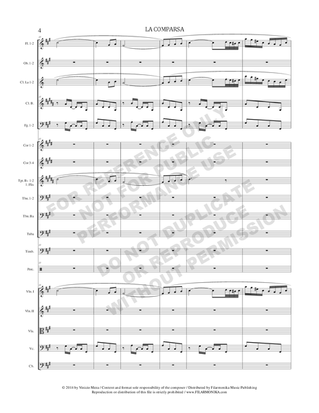 La comparsa, for orchestra