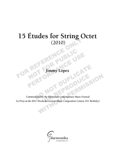15 Études for String Octet