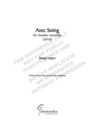 Avec Swing, for chamber orchestra