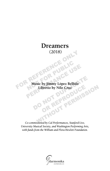 Dreamers, an oratorio for soprano, mixed chorus and orchestra