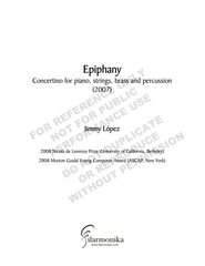 Epiphany, concertino for piano, strings, brass and percussion