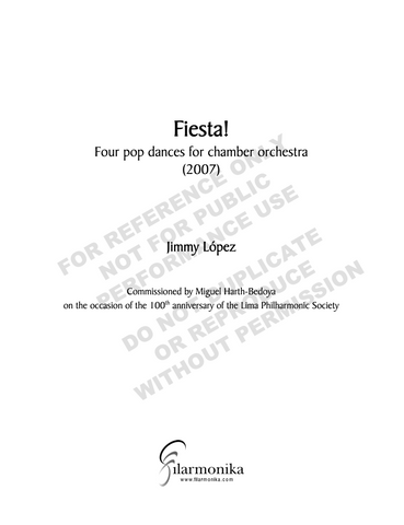 Fiesta! for chamber orchestra or ensemble