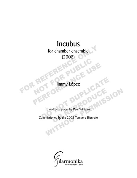Incubus, for chamber ensemble