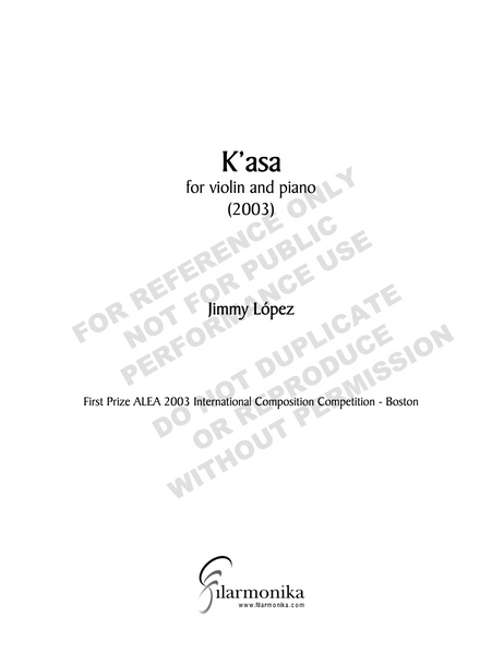 K'asa, for violin and piano