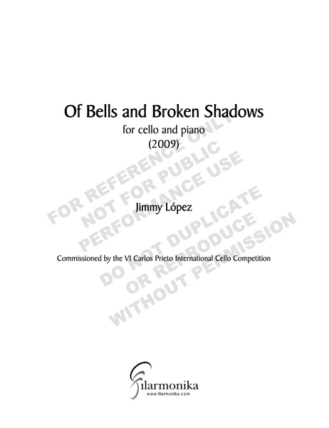Of Bells and Broken Shadows, for cello and piano