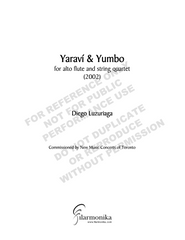 Yaraví y yumbo, for flute and string quartet
