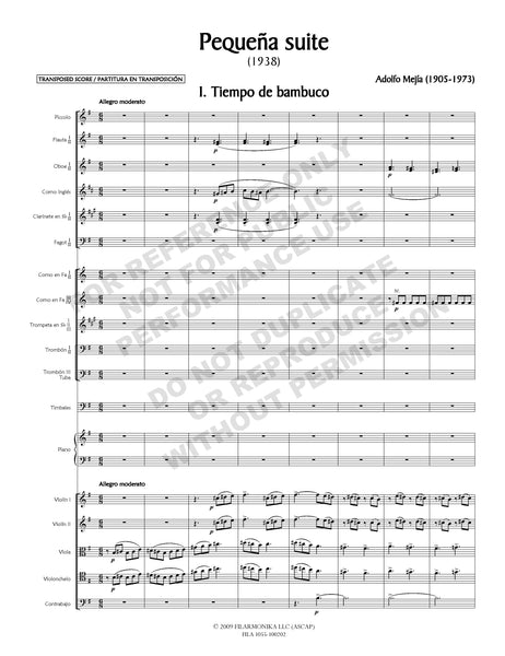 Pequeña suite, for orchestra