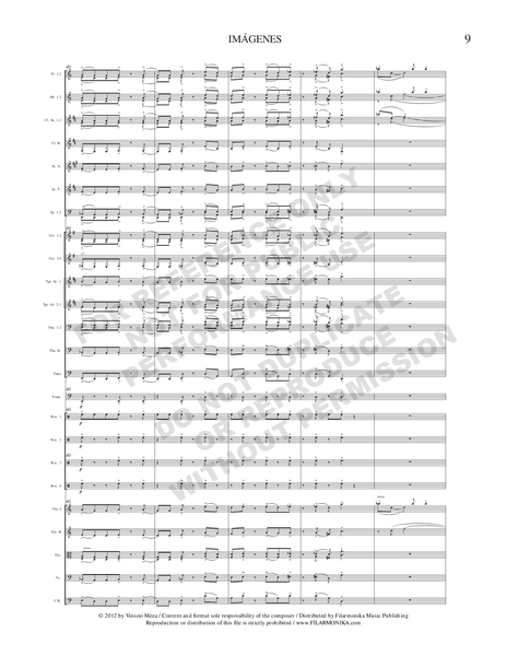 Imágenes, for orchestra
