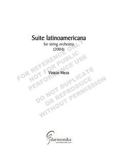 Suite latinoamericana, for string orchestra