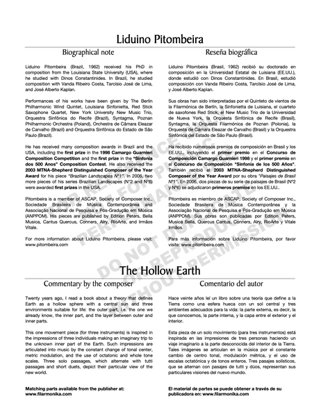 The Hollow Earth, for flute, viola and harp