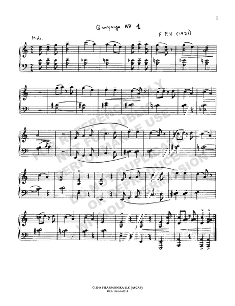 Cuatro quiyayas, for solo piano