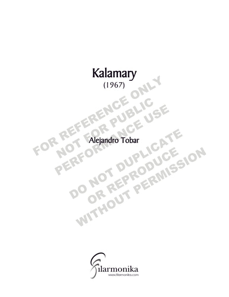 Kalamary, for orchestra