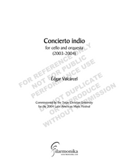 Concierto indio, for cello and orchestra