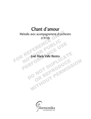 Chant d'amour, for voice and orchestra
