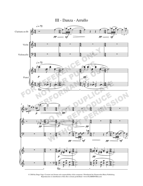Divertimento, for clarinet, violin, cello, and piano