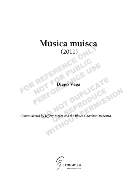 Música muisca, for orchestra