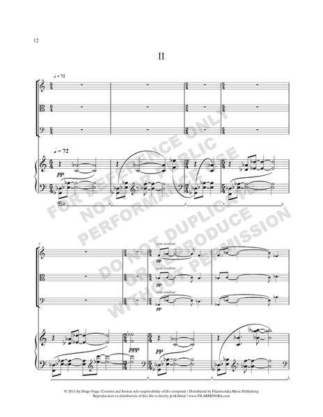 Piano Quartet, for violin, viola, cello, and piano