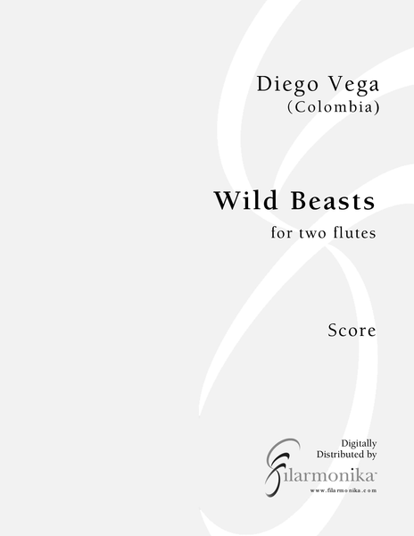 Wild Beasts, for 2 flutes
