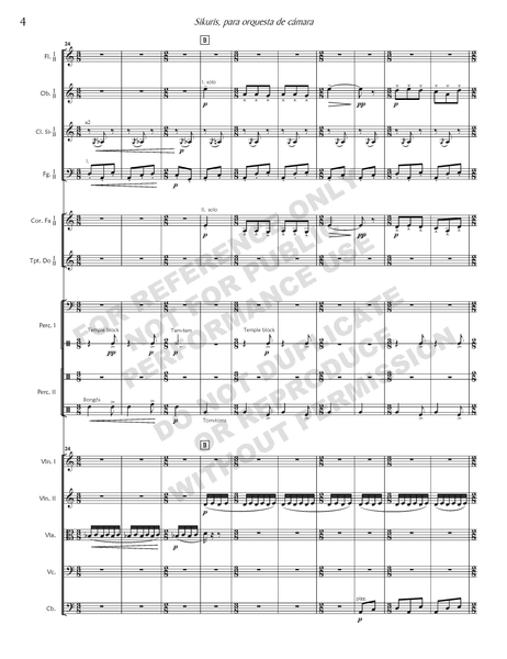 Sikuris, for chamber orchestra