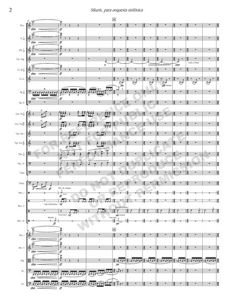 Sikuris, for symphony orchestra