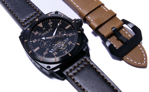DLC V3 Brown by WOLFE WATCHES