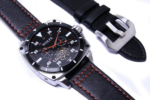 2 Leather Straps Version 7 by WOLFE WATCHES