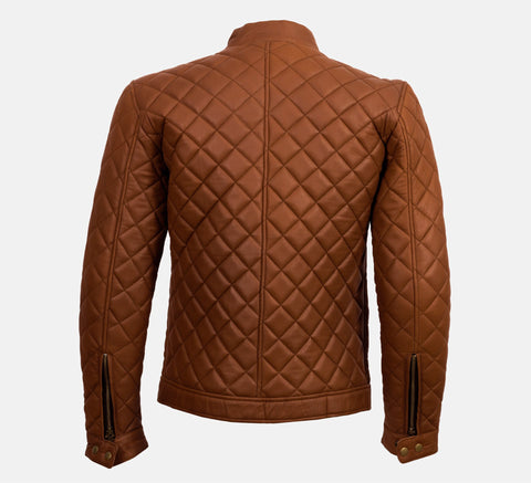 TRIVOR  - TAN CAFE RACER JACKET