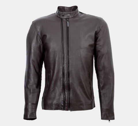 DEOSAI - MOCHA BROWN CAFE RACER JACKET