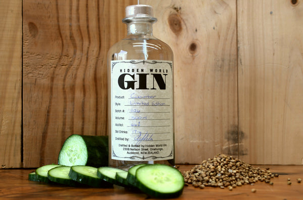 Hidden World Cucumber Gin - 500ml 44% - GinZealand