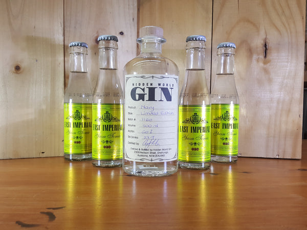 Hidden World Navy  60% Gin & Tonic Pack - GinZealand