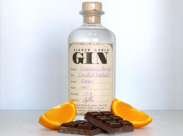 Hidden World Chocolate Orange (Jaffa) Gin 44% abv - Gin Zealand