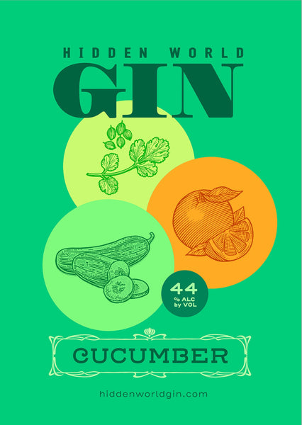 Hidden World Cucumber Gin - 500ml - GinZealand
