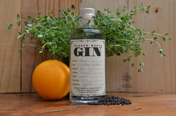 Hidden World Navy 60% Gin - 500ml - GinZealand