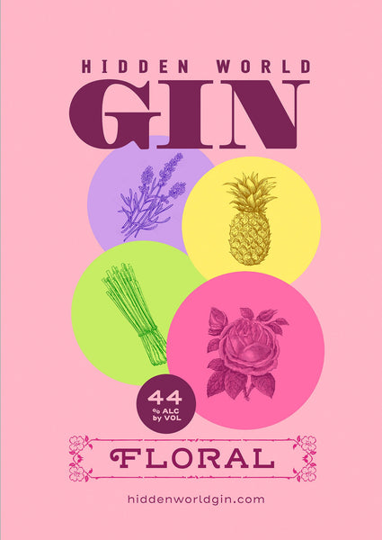 Hidden World Floral Gin - 500ml 44% - GinZealand
