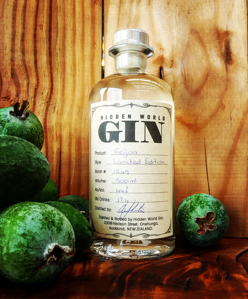 Hidden World Feijoa Gin - 2018 EDITION - 500ml 44% - Craftginconz