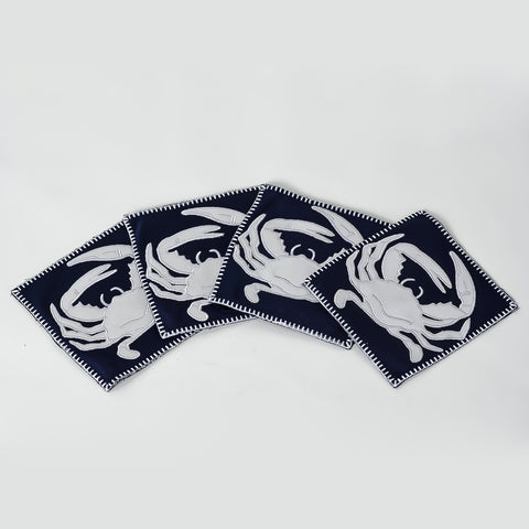 Blue Crab Coasters - Set of 4