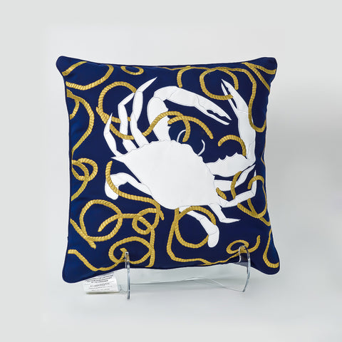 Crab 'N Rope Pillow