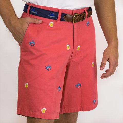 Nantucket Red Dawn Shorts / Blue Crab & Beer