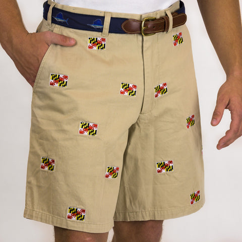 Tan Shorts / Maryland Flag