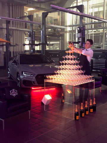 Champagne Tower for Audi Centre Sydney